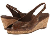 Walking Cradle Amore - brown/black snake print Wedge Heel in a WW Width