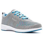 Propet Washable Walker Evolution Blue and Light Grey Walking Shoe WCS012M in a WD and 2E width