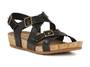 Walking Cradle Pacific Black Sandal in a W and WW Width