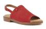 Walking Cradle Juliette Red Nubuck Sandal in a W and WW Width