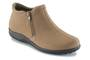 Walking Cradle Zip Taupe Nubuck Ankle Boot in a W and a WW Width