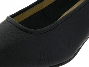 Black wide width high heel shoes at Shoe Talk Ltd