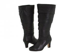 24f6857628a Black wide calf boots at Shoe Talk